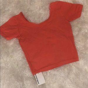 fa7cdedf142 American Apparel Tops | Knitted Classic Crop | Poshmark